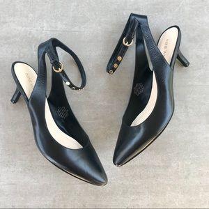 a033f4d593 Nine West · Nine West Black Studded Ankle Strap Kitten Heels